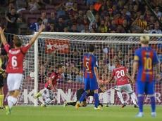 Le dernier club à s'être imposé au Camp Nou. EFE
