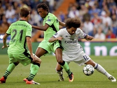 El portugués dejó su huella en el Bernabéu. EFE