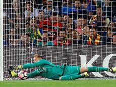 Ter Stegen a sauvé le Barça et été complimenté par Casillas et Puyol. EFE