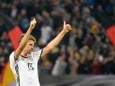 Thomas Müller ha jugado un centenar de partidos con Alemania. EFE