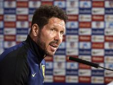 Simeone resaltó el compromiso de su equipo ante el Guijuelo. EFE