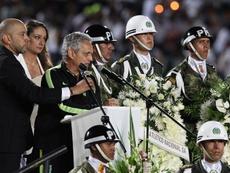 Reinaldo Rueda, diretor do Atlético Nacional, se mostrou feliz com a decisão da CONMEBOL. EFE