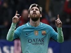 Messi celebrating a goal. EFE