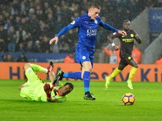 Vardy scored in his side's last game three goals. AFP