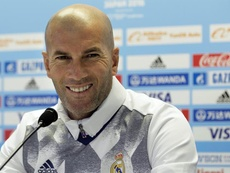 Zidane is happy with the result. AFP