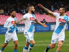 El defensa florentino sólo jugó nueve partidos con el Nápoles. EFE/EPA