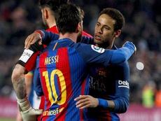 Neymar pidió el fichaje de Messi el pasado verano. EFE