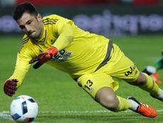 Adán cometió un error clave en la derrota ante el Villarreal. EFE/Archivo