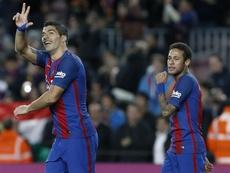 Suárez bendice el regreso de Neymar. EFE