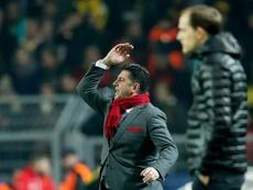 O técnico do Benfica não ficou nada satisfeito com o resultado obtido no Bessa. EFE