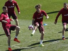 Keida est entré dans la liste de l'Atletico Madrid pour la Ligue des champions. EFE