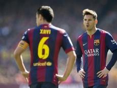 Xavi repasó la actualidad 'culé' y lanzó un guiño a Messi. EFE/Archivo