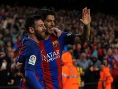 Messi e Suárez no onze ideal da Liga, diz a UEFA. EFE/Arquivo