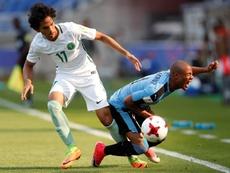 L'Uruguay U20 s'est imposée face à l'Arabie Saoudite. EFE