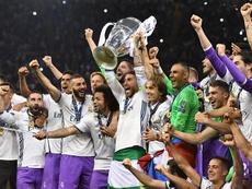 Se cumplen 1.000 días desde que el Madrid alzara su primera de las tres Champions consecutivas. EFE/