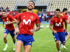 Ramos made his 150th appearance for Spain. EFE