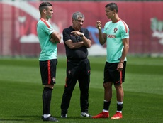 Santos hopes that Ronaldo carries on. EFE