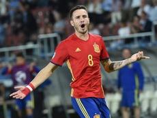 Saúl Ñíguez completó los 90 minutos ante Albania. EFE/Archivo