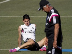 Ancelotti no pierde de vista a James. EFE