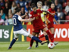 Jennifer Hermoso saldrá como titular ante Finlandia. EFE/Archivo