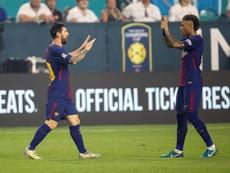 Neymar volvió a alabar a Messi. EFE