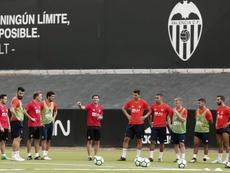El Valencia volvió a entrenar. EFE/Archivo