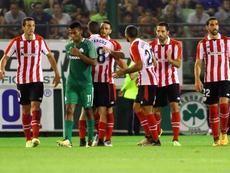 De Marcos marcó el segundo gol en Atenas. EFE