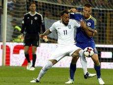 Mitroglou marcó el primer gol del combinado griego. EFE/Archivo