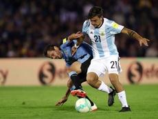 Dybala no estuvo bien ante Brasil. EFE