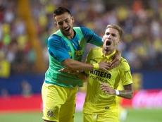 El Villarreal por fin pudo volver a remontar. EFE