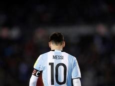 El jugador Lionel Messi de Argentina en acción durante un partido. EFE/Archivo