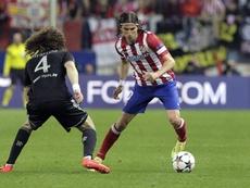 Reunión a la vista en el Atlético de Madrid para hablar de Filipe Luis. EFE