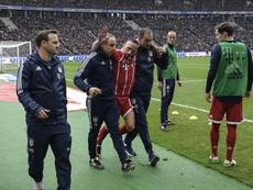 Bayern's Ribery injures knee. EFE/EPA