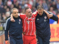 Ribery limped off in the game against Hertha BSC. EFE