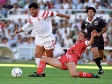 Diego Maradona is remembered by Ronald Koeman. EFE