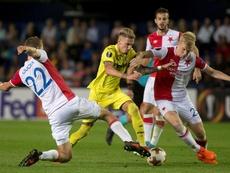 El Slavia de Praga es uno de los rivales del Villarreal en la Europa League. EFE/Archivo