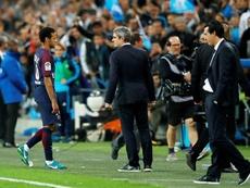 Neymar foi expulso da partida frente ao Marseille. EFE