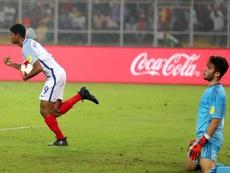 A Inglaterra bateu a Espanha, por 5-2, e se tornou campeã mundial de sub-17. EFE/EPA
