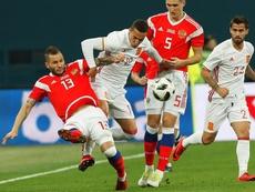 Rússia e Espanha empataram em 3-3. EFE