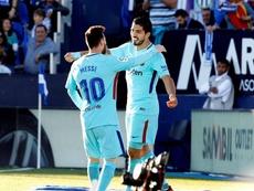 Súarez répond à Messi. EFE