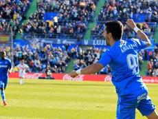 Ángel Rodríguez fue el autor del gol del empate ante el Sevilla. EFE/archivo