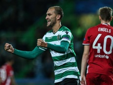 Bas Dost marcou e ajudou o Sporting CP a seguir em frente. EFE