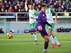 Simeone marcó ante el Sassuolo, pero no logró dar los tres puntos a la Fiorentina. EFE