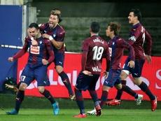 O Eibar ultrapassou o adversário deste domingo na tabela. EFE
