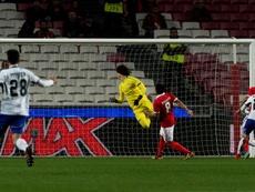 Svilar vê a bola como o Benfica viu a Champions: a passar-lhe ao lado. EFE