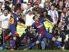 Suárez anotó un gol histórico en el Bernabéu. EFE