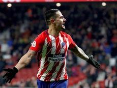 Vitolo ya sabe lo que es marcar a nivel europeo con el Atlético. EFE