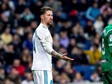 Sergio Ramos frustré. EFE