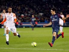 Cavani marcó un gol ante el Montpellier. EFE/EPA
