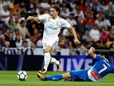 Real Madrid defeated Espanyol 2-0 last time at the Bernabéu in October 2017. EFE/Archivo